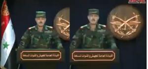 Videoda Suriye Ordusu resmi sözcüsü Barış Pınarı Harekatı ile ilgili bir açıklama yapmıyor